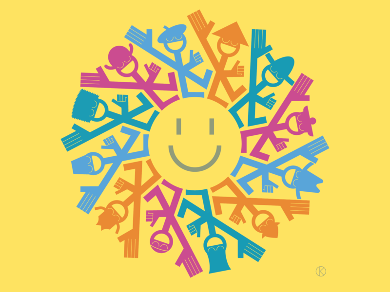 International Day of Happiness wellbeing mentalhealth happy happinessday day happiness art vector illustrator illustration