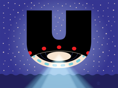 U for the Corita Kent inspired Illuminated Alphabet competition