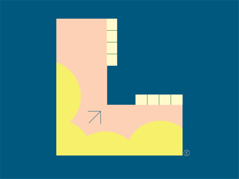 L for the Corita Kent inspired Illuminated Alphabet competition competition corita kent house of illustration letters art vector illustrator illustration alphabet typography alphabet