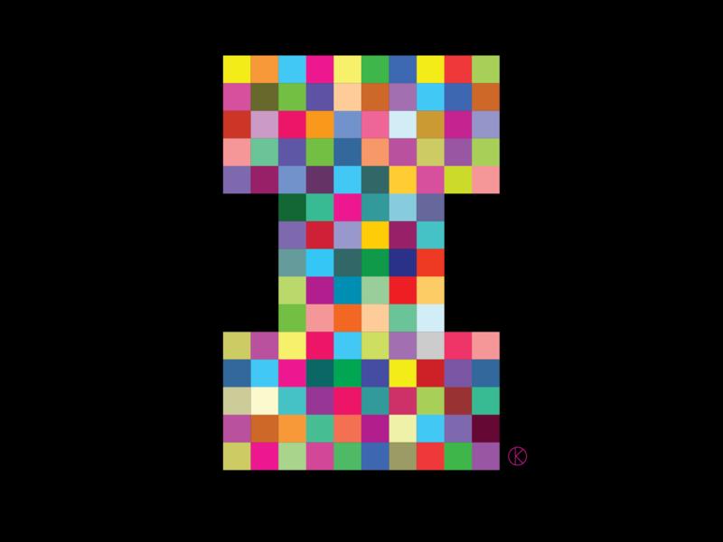 I for the Corita Kent inspired Illuminated Alphabet competition competitiion illuminated alphabet corita kent house of illustration letters art vector illustrator illustration alphabet typography alphabet