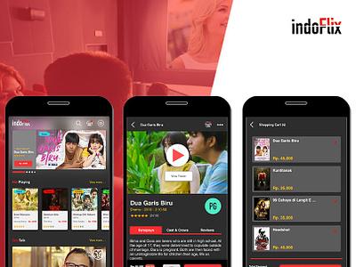 IndoFlix - Movie Watch App ui designers ux design ui ux mockup ui design movie app