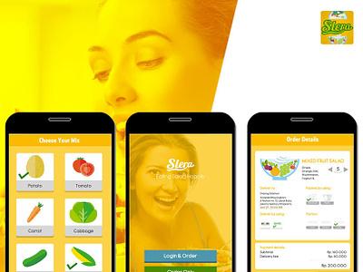 Slera - Food Custom App Concept uiux ui design food app mobile app web design mockup uidesign concept