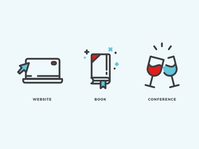Icons For Website wine book website blue light red web icons