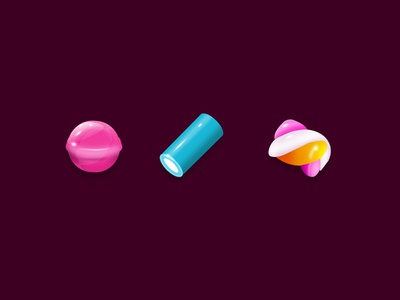 Yes We Candy vector icons illustration
