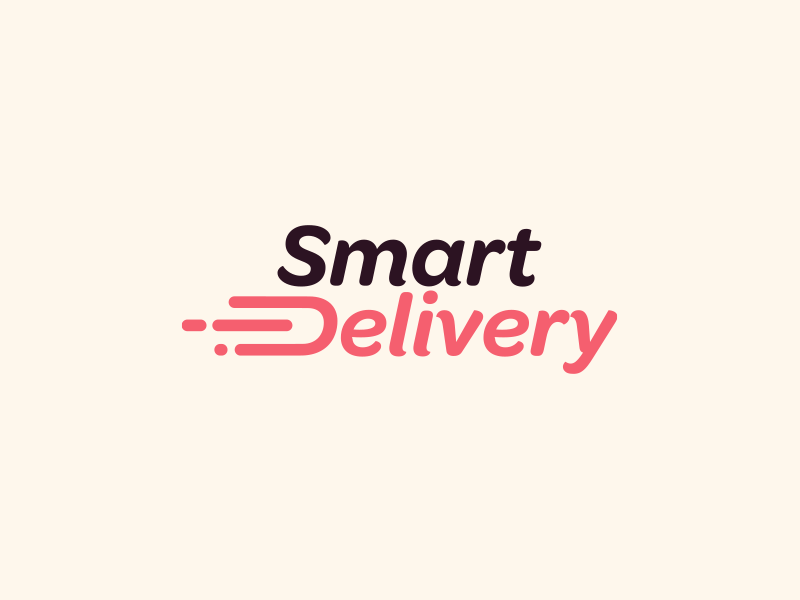 Smart Delivery Logo web vector ui design branding smart logo