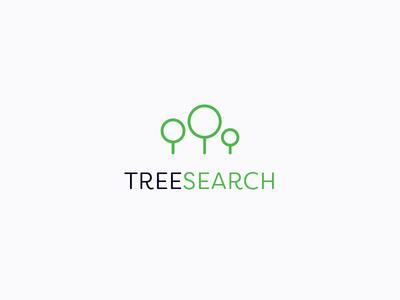 Treeserach typography branding logo design
