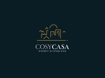 Cosy Casa - Real-estate in Jerusalem illustration typography vector jerusalem luxury logo
