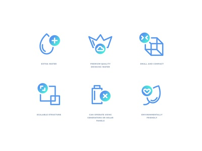 IconsForWatergen vector web ui blue icons