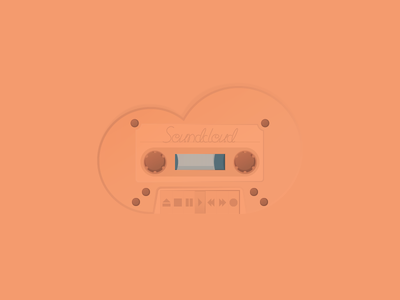 Tape Deck – Soundcloud monochrom illustration icon soundcloud deck tape
