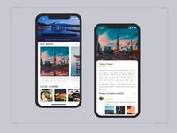 Travel app interface exercises