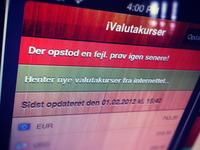 iValutakurser : system msg