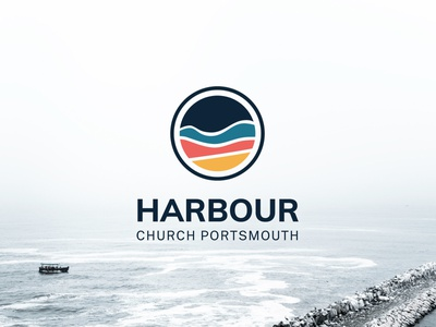 Harbour Church Portsmouth Final Logo Design minimal logos berkshire design minimal logo design circular logo berkshire logo church branding church church logo minimal logo clear logo brand identity design minimal logo design logo brand identity