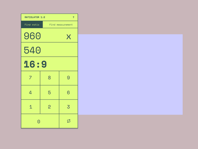 Ratiolator web aspect ratio ratio tool design ui app