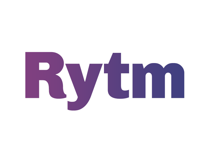 Rytm Logotype music purple gradient typography logotype rytm