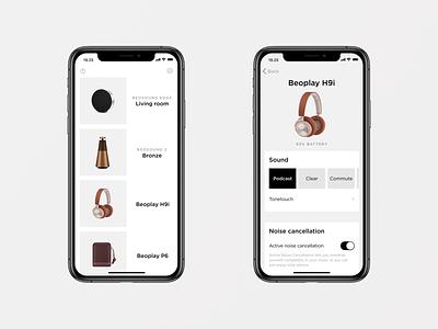 Bang Olufsen App 2.0 luxury design ui music bangolufsen audio uidesign app
