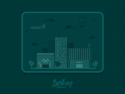 Splum app splumapp splum ios ble ibeacons bluetooth illustration flat social microchat