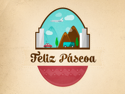 Happy Easter easter illustration trip eggs celebration holidays