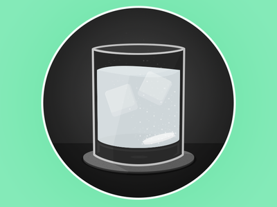 Hangover on the rocks hangover oldfashioned ice bubbling illustration ps drink medical cure