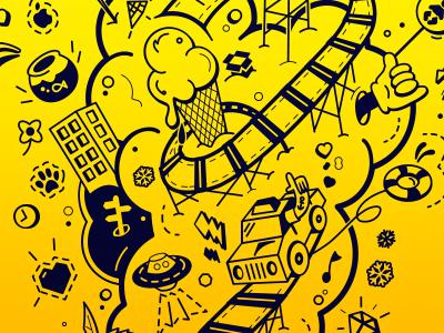 Doodle fun! doodle tshirt vector ai sketch taxibeat