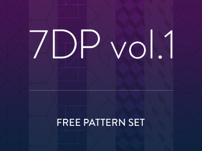 7 Deadly Patterns vol.1 patterns geometry vector isometric sharp freebie clean cut .pat