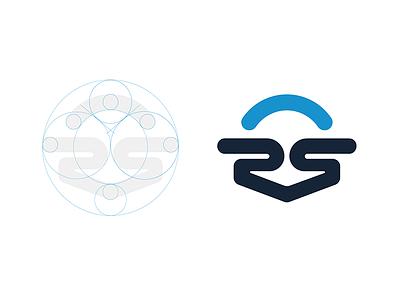 Saas Platform Logo branding process guides grid corporate shipping simple icon geometric vector logo