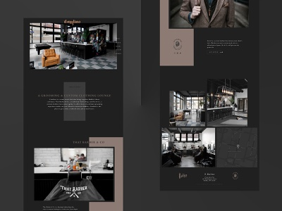 Barbershop / Custom Tailor Website single page website visual design website design ui design ux design