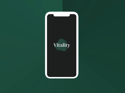 Vitality - Habit Screen Interactions global warming product design app design app visual design ux design ui design