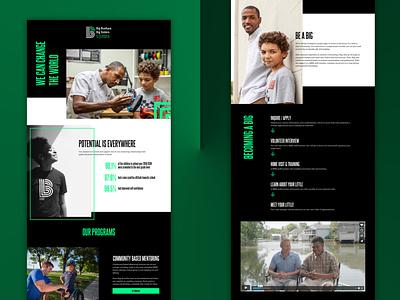 Big Brothers Big Sisters Landing Page ui design ux design landing page website design