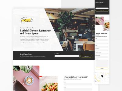 Restaurant Coming Soon Landing Page landing page ui design ux design