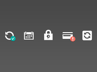 A few icons from Paddle