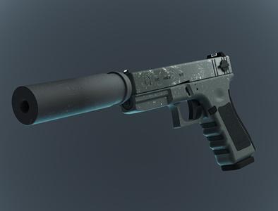 GLOCK 18 solidworks keyshot rendering 3drender 3dmodel modeling render glock18 glock
