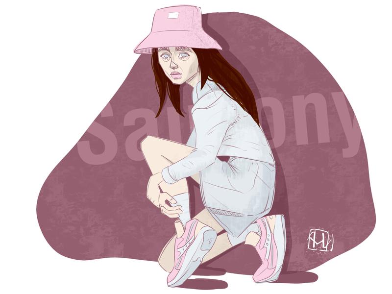 Saucony sneaker saucony sketch artist illustrator characterdesign brand design characters colors branding brand illustration brand illistration