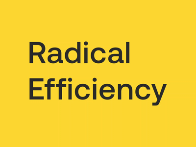 Radical Efficiency typography math rebrand design artificial intelligence animation