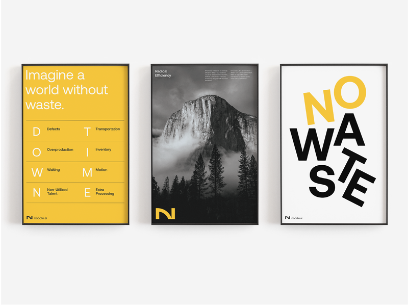 Posters poster rebrand design artificial intelligence environmental branding