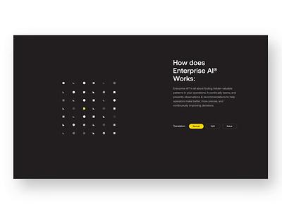 How Enterprise AI Works ui ux illustration website web design rebrand animation