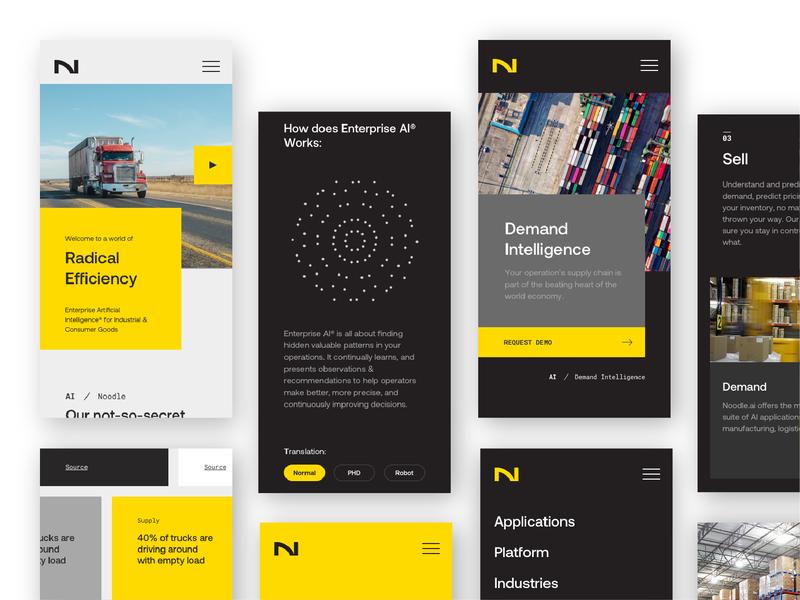 Mobile Screens responsive mobile ux ui rebrand design branding