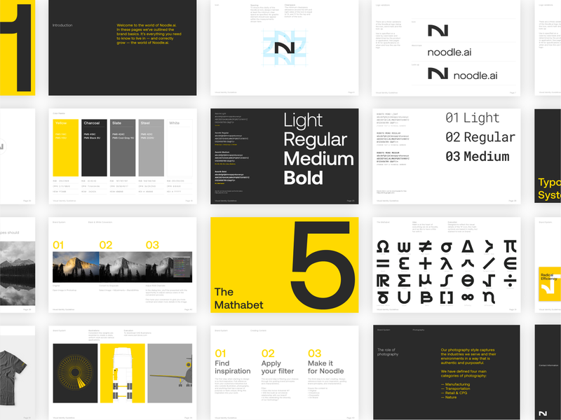 Guidelines logo color artificial intelligence rebrand design branding