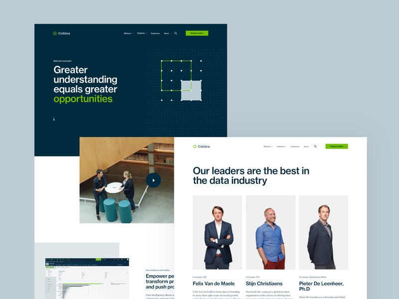Collibra Website web typography design branding rebrand