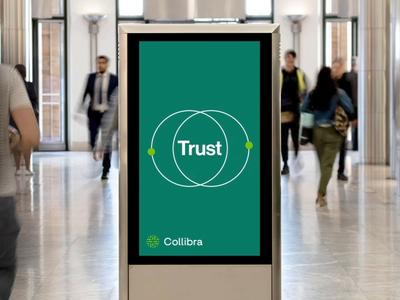 Collibra Canary Wharf Interior Activation illustration animation design branding rebrand