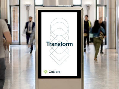 Collibra Canary Wharf Interior Activation animation illustration typography design branding rebrand