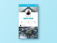 Profile Mobile App Screen