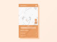 Map Mobile App Screen