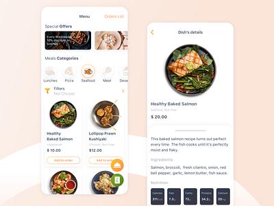 Restaurant App restaurant concept app design ui