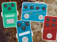 Guitar FX Pedal Stickers