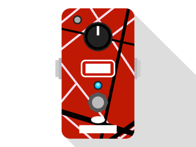MXR EVH Phase 90 redbubble fx decals stompbox stickers pedal guitar
