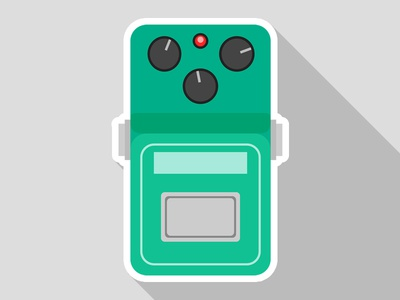 Flat Ibanez TS808 Sticker stompbox effectpedal pedal guitar tubscreamer ibanez