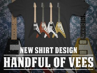 Handful of Vees - t-shirt design
