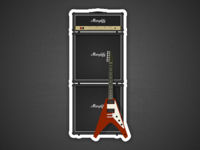Amp Stack and V - Fridge magnet design