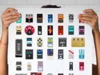 Guitar pedal poster