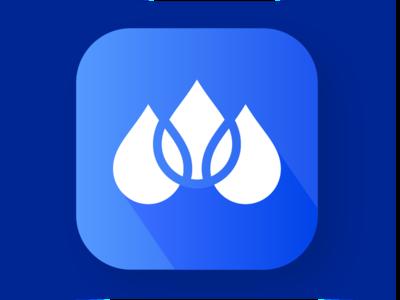 Daily UI #2 - Rain Sounds App Icon branding app branding daily ui rain app rainy day rain vector illustrator design graphic icon app